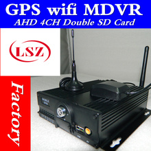 GPS WIFI car video recorder  4 Road dual SD card  high-definition on-board monitoring host  MDVR manufacturers sell