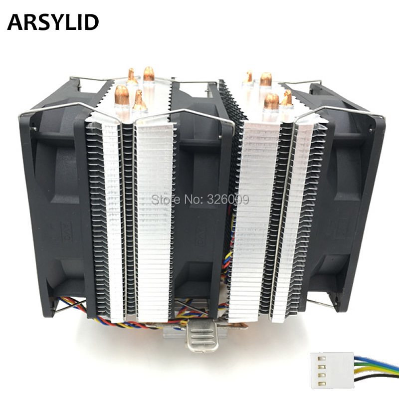 ARSYLID CN-409C-P CPU cooler 4pin PWM 9cm fan 4 heatpipe daul-tower cooling for Intel LGA775 1151 115x 1366 2011 for AMD AM3 AM4<br>