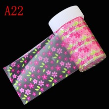 ELESSICAL 100*4cm Flowers Nail Art Stickers Decals Wraps Nail Transfer Foil Manicure Tools Wholesale Retail Nail Salon DIY Paper