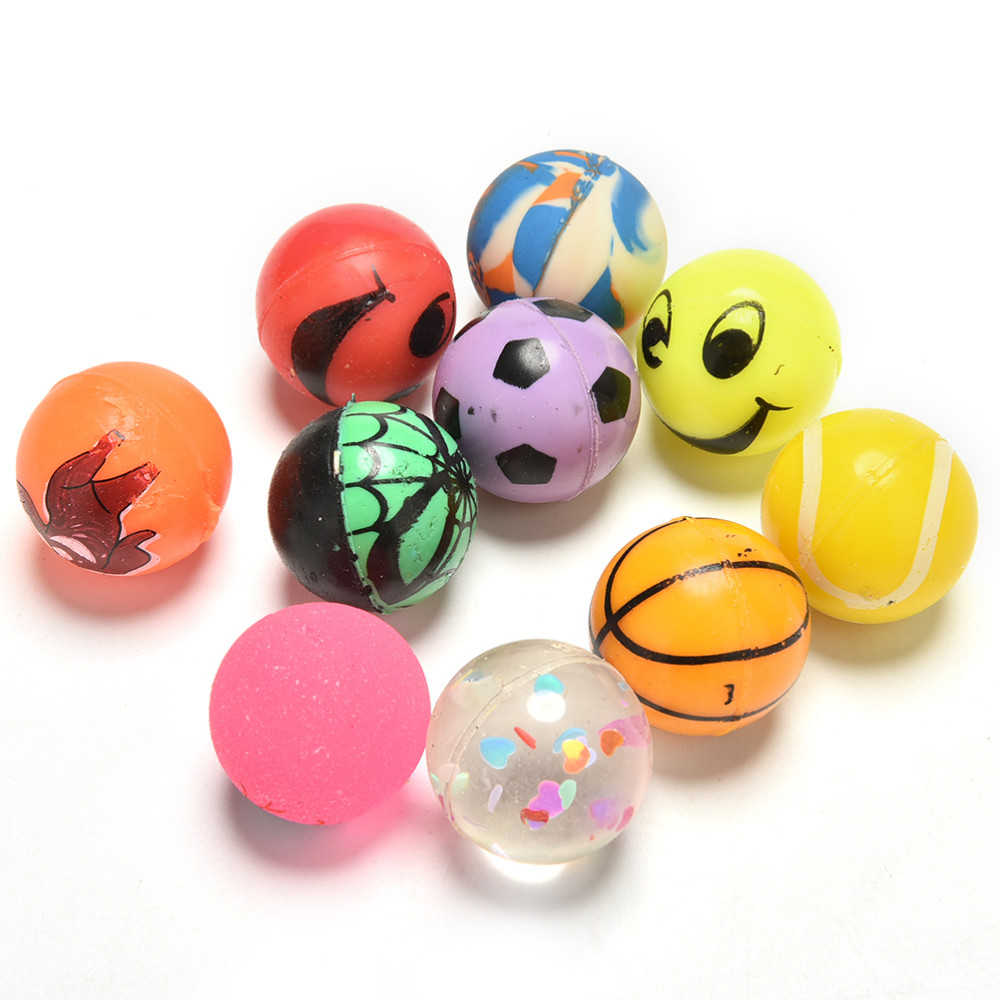 Pinata Toy Loot//Party Bag Fillers Rubber Balls Jet Ball Joke 12 Bouncy Eggs