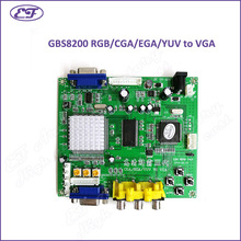 Wholesale 5PCS/lot RGB/CGA/EGA/YUV to VGA Video Converter Board GBS8200 V4.0 CRT to LCD monitor converter board for game machine