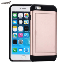 For iPhone 4/4S/5/5S/SE/6 6s/6 6s plus/7/7plus Case Skin Card Money Slot Spigenes Cell phone cases antiknock protector Cover