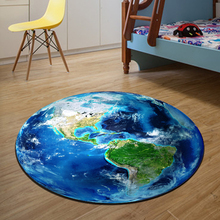 3D Earth Round Mat 80/100/120/160CM alfombras dormitorio Carpet Living Room Deurmat Dier rugs Swivel chair(China)