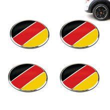 Dsycar 4pcs/lot 56mm German Flag Alloy Car Wheel Center Hub Caps Sticker Emblem for VW Volkswagen Audi Bmw Mercedes Benz Porsche(China)
