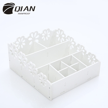 QIAN 2017 New Wood Bathroom Organizer Waterproof and Fireproof Accessories Kitchen Bedroom Storage Box Jewelry Cosmetic Box Case
