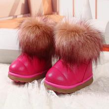 Girls Boys Kids Boots Warm Winter Boots Kids Children's Shoes Weeks from 3 Different Colors For Girl boots CLOWN DUCKS(China)