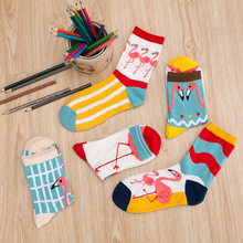 2017 New Lovely Cartoon Women Socks High Quality Cotton Sox Japanese Fashion Style Socks Autumn Winter Warm Socks For lady Girls(China)
