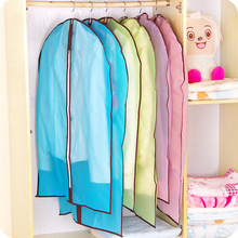 Waterproof transparent suit overcoat dust cover clothes organizer thickening clothing storage and dust bag clothing storage