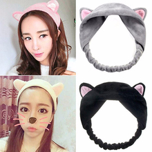 1Pcs Cute Ears Turban Headband Elastic Hair Accessories Head Bands Hairbands Women Female Girls Makeup Hair Band Turban