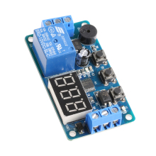 12V Module Delay Timer Relay Control Programmable Switch Car Buzzer LED Display
