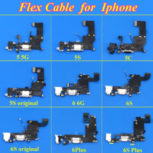 1Piece USB charger charging port For iPhone 6 6S 6plus 6Splus Dock flex cable Headphone Jack Lightning Connector Assembly