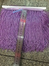 CiCi-102725 nice looking long tube beads tassel fringe purple for decoration dress(China)
