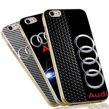 Soft Silicone Clear TPU Phone Case Cover For iPhone 4 4S 5C 5 5S SE 6 6S 7 Plus Audi Case Drop Shipping