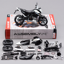 Maisto 1:12 Motorcycle Toy, Diecast Metal & ABS KTM 690 Duke Motor Car, DIY Model Building Kits, Toys For Children, Brinquedos