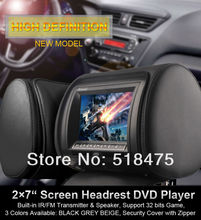 7 inch Headrest Car DVD Player +Monitor with Game, IR, FM, SD card, USB, and DIVX(China)