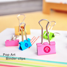 24 Pcs/lot Metal Binder Clips Pop art Cute rilakkuma paper clip Escolar Stationery Office accessories School Supplies 6458