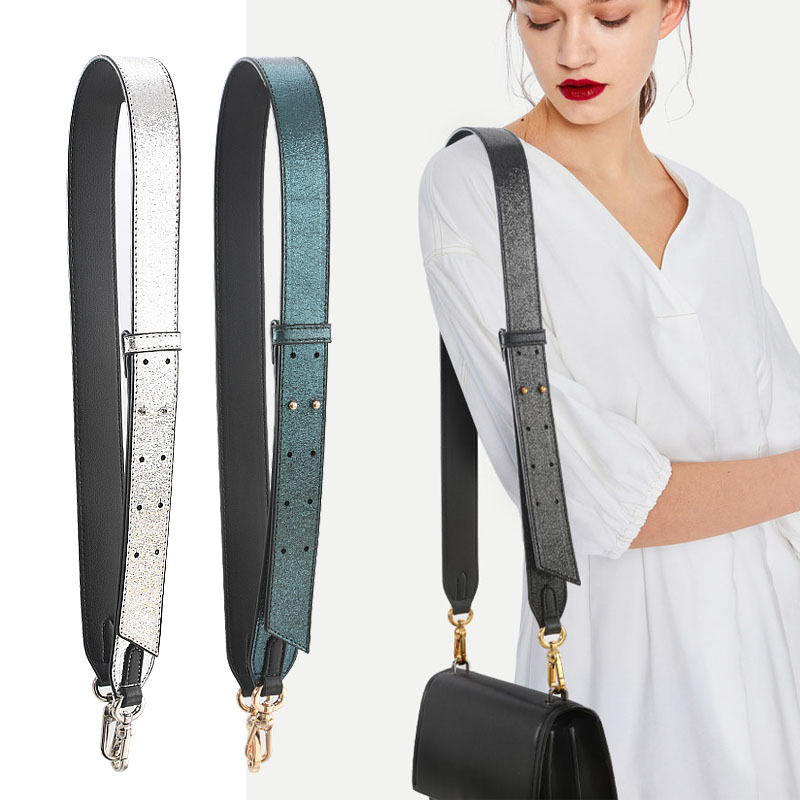 Fashion Embroidery Wide Shoulder Bag Strap Female Handbag Straps You For Bags Accessories Colorful Straps For Handbags Belt White light gold buckle