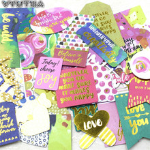 VYUTXA Love You Colorful Cardstock Die Cuts for Scrapbooking/Card Making/Journaling Project DIY Cute Girl