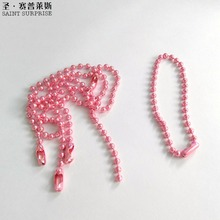2017 Promotional 13cm Most Popular Size 2.4mm Pink ball bead chain ball chains With Connector For DIY Accessories
