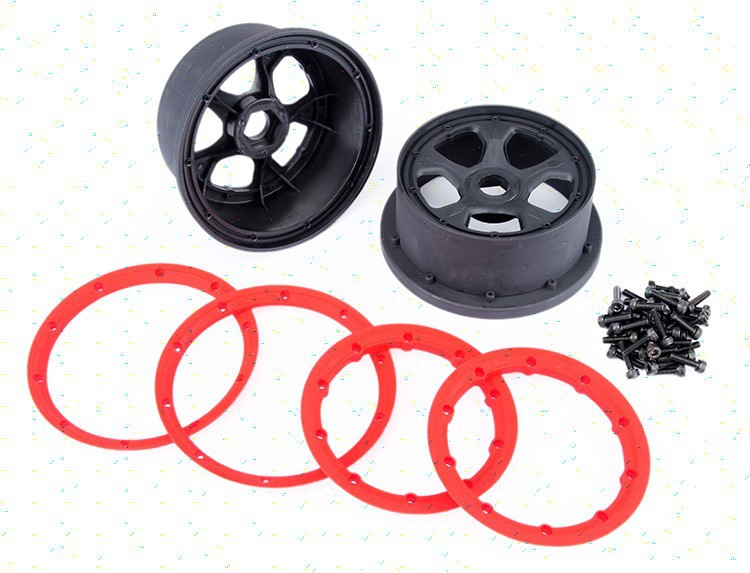 baja LOSI 5IVE-T rear wheel hub rim 87054 1 pair<br>