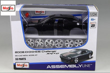 Maisto 1:24 2008 DODGE Challenger SRT8 Assembly DIY Diecast Model Car Toy New In Box Free Shipping