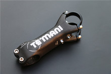 TEMANI 3K 6 Degree Full Carbon Bicycle Stem Black Mountain Road Bike Carbon MTB Stems Parts 31.8 * 80 90 100 110mm
