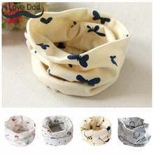 Cotton Baby Scarf Baby Bibs For Boys Girls Burp Cloths Baberos Lovely Kids Collars O Ring Neckerchief(China)