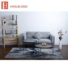 Contemporary 2 seater fabric sofa set design furniture for living room