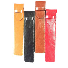 Microfiber PU Leather Stylus Protective Case Sleeve Pouch for Pens Holder Ballpoint Pen Holder Bag 4 Color(China)