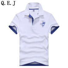 Q.E.J Summer Fashion Men Polo Shirt Short Sleeve Fitness Dog Pattern Loose Polo Shirt Stand Collar Male Casual Clothing