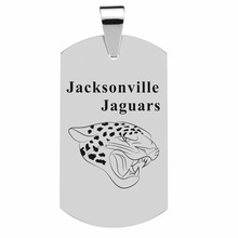 Men Jewelry Dog Tags Pendant Necklaces Stainless Steel Pendant Jacksonville Jacksonville Jaguars Football Team Pendant Necklace