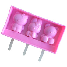 Hello kitty Silicone Ice Cube Tray Mold Cookies Chocolate Soap Tool.Cutter Ice Molds Cream Mould Baking bake Tools E084