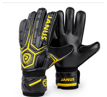 Size 8-10 JANUS Protection Latex Football Goalkeeper Gloves With Finger Protection For Football Ball Soccer Ball Futbal Training