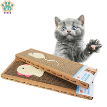 Pet Cat Toys Cat Scratch Board Corrugated Card Board Honeycomb Cardboard Cat claw Board Paper Toy For Cats Dropshipping(China)
