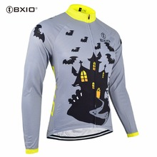 BXIO Invierno Maillot Ciclismo Winter Thermal Fleece Cycling Jerseys Pro MTB Bike Wear Long Sleeve Autumn Bicycle Clothes 028J(China)
