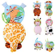 0-12 Month Baby Rattles Toys Cute Elephant Animal Cloth Book For Toddlers Learning Early Education Toys Christmas Gift