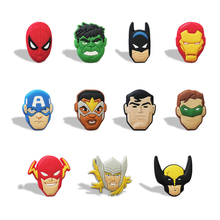 100pcs/lot Avengers Cartoon PVC Fridge Magnets Magnetic Stickers Home/Event Decoration Party Supplies Kids Party Gifts(China)