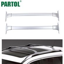 Partol Silver Car Roof Rack Cross Bar Roof Luggage Carrier Cargo Boxes Bike Rack 68KG/150LBS For Nissan Rogue 2014 2015 2016