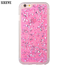 SIXEVE Phone Case For iPhone X 8 7 6 5 s SE 5s 6s Plus 7Plus 8Plus Cell Phone Cover Glitter Gold Foil Soft TPU Casing Housing(China)
