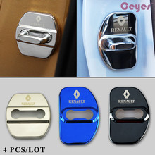 Ceyes Auto Car Styling Car Door Lock Cover Fit For Renault Megane 2 Megane 3 Scenic Laguna 2 Captur Fluence Latitude Car-Styling(China)