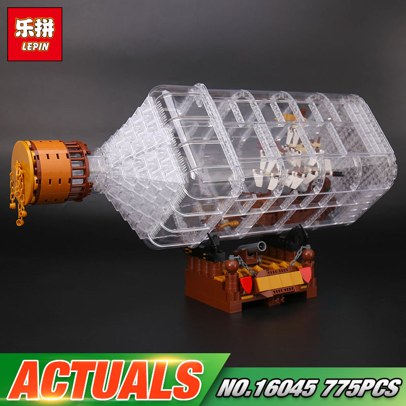 Lepin 16045 Genuine 775pcs Creative Series The Ship in the Bottle Set Building Blocks Bricks Educational Toys Model As Boy Gifts<br>