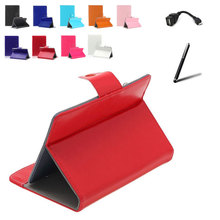 For pipo S1 Pro 7 inch Universal Tablet PU Leather Cover Case 9 Colors Free Stylus+ OTG Cable