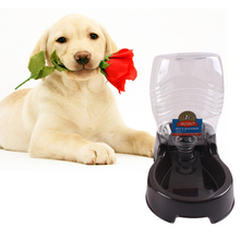 Automatic Pet Food Water Feeder Dish Bowl Pet Dog Cat Puppy Water Dispenser Food Dish Bowl Feeder Dark brown/ Coffee(China)
