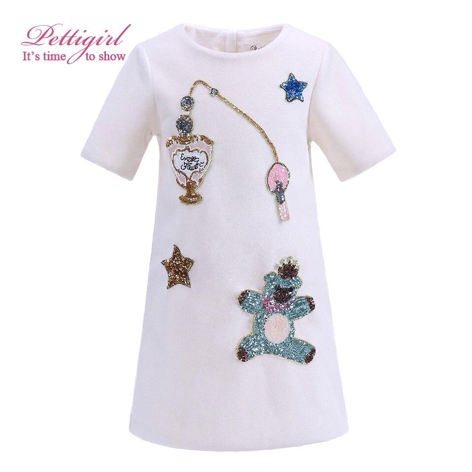 Pettigirl Newest White Girls Dresses Sequins Pattern Daily Straight Dress Daughter Winter Favorite Item G-DMGD908-849 <br><br>Aliexpress