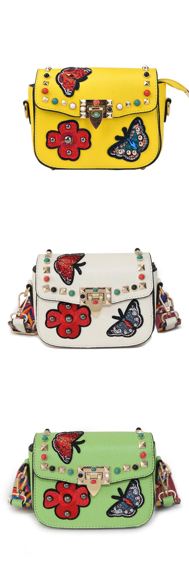 SAJOSE Women Small Hand Bag Flowers Designer Leather Shoulder Woman's Fashion Messenger Lady Crossbody Luxury Handbag Women Bags 4