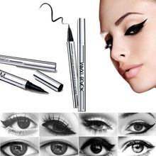Eye Liner Pen Anti sweat don't dizzy dye quick dry liquid eye liner liquid pen lasting not to take off makeup fine Black Liquid(China)