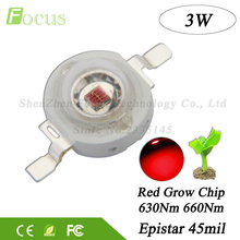 20pcs High Power LED Chip 3W Grow LED 660nm Deep Red + 3 Watt 630nm Red SMD Diode COB DIY Grow Light For Plant Fruit Growth