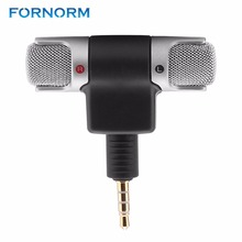 Fornorm Mini 3.5mm Plug Microphone With Lapel Clip Lightweight Mini Size For Video Conference Sound Recording(China)