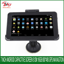 7 inch Capacitive screen Android GPS Navigation 512Mb 8Gb Truck vehicle car Quad-core WIFI maps for USA/spainsh/Europe/navitel
