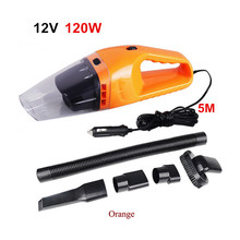 Hot Portable Car Vacuum Cleaner 120W 12V 5M Cable Handheld Mini Super Suction Wet And Dry Dual Use Vaccum Cleaner For Car Waste